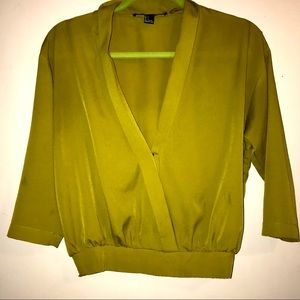 Forever21 Elegant Green Top